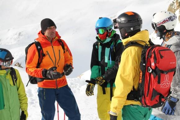 Freerideausbildung für Jugendliche im Schnalstal / Südtirol