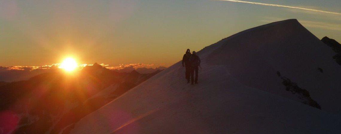 Hochtour Ortler Hintergrat: Sonnenaufgang