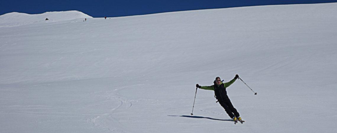 Skitouren Valle Maira / Abfahrt vom Ruissas
