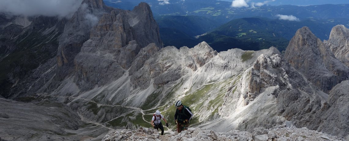 Knapp unterhalb des Gipfels des Kesselkogel