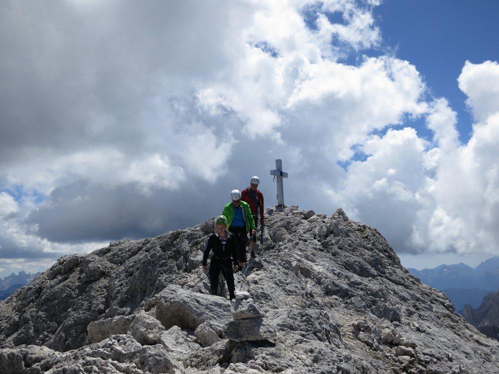 Rosengartenspitze (Dolomiten) mit Gipfelkreuz