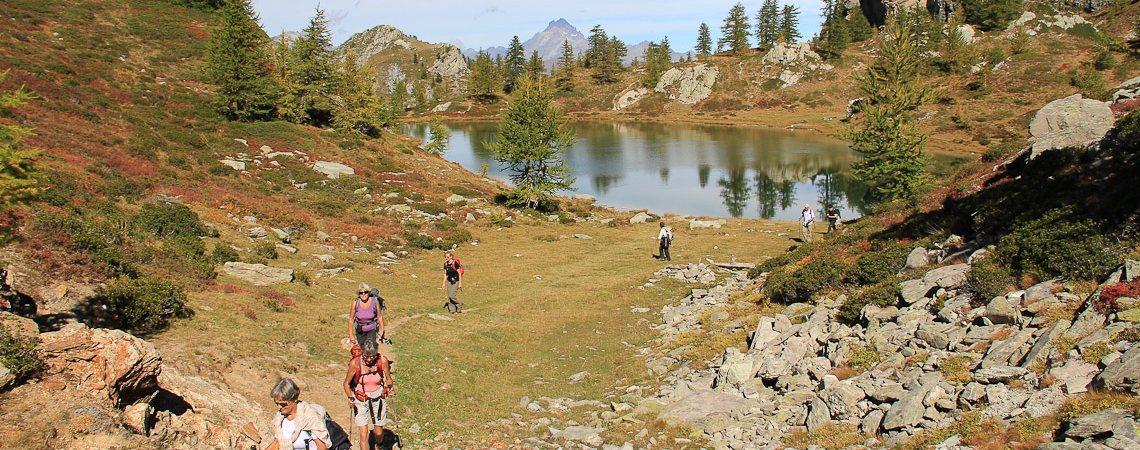Lago Nero mit Monviso im Hintergrund