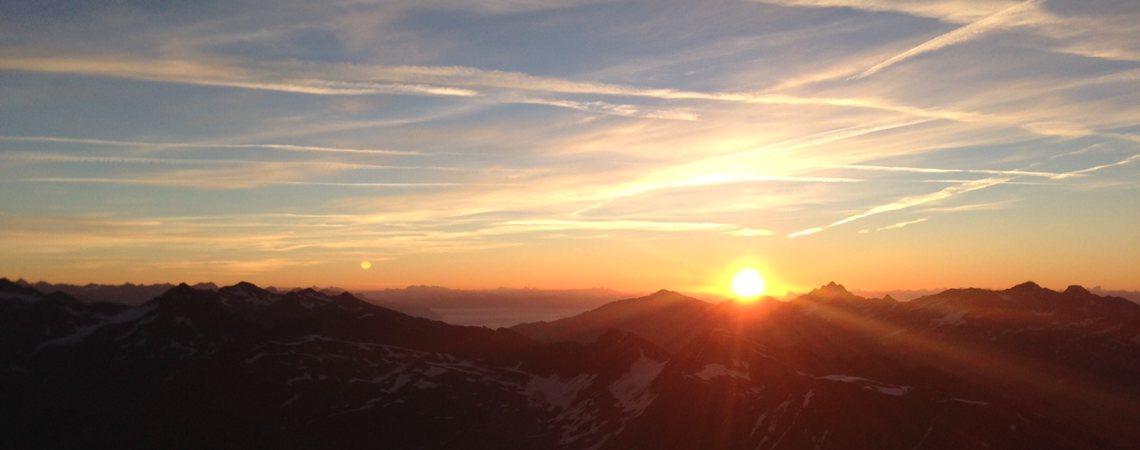 Bergerlebnis Südtirol: Sonnenaufgang Königsspitze