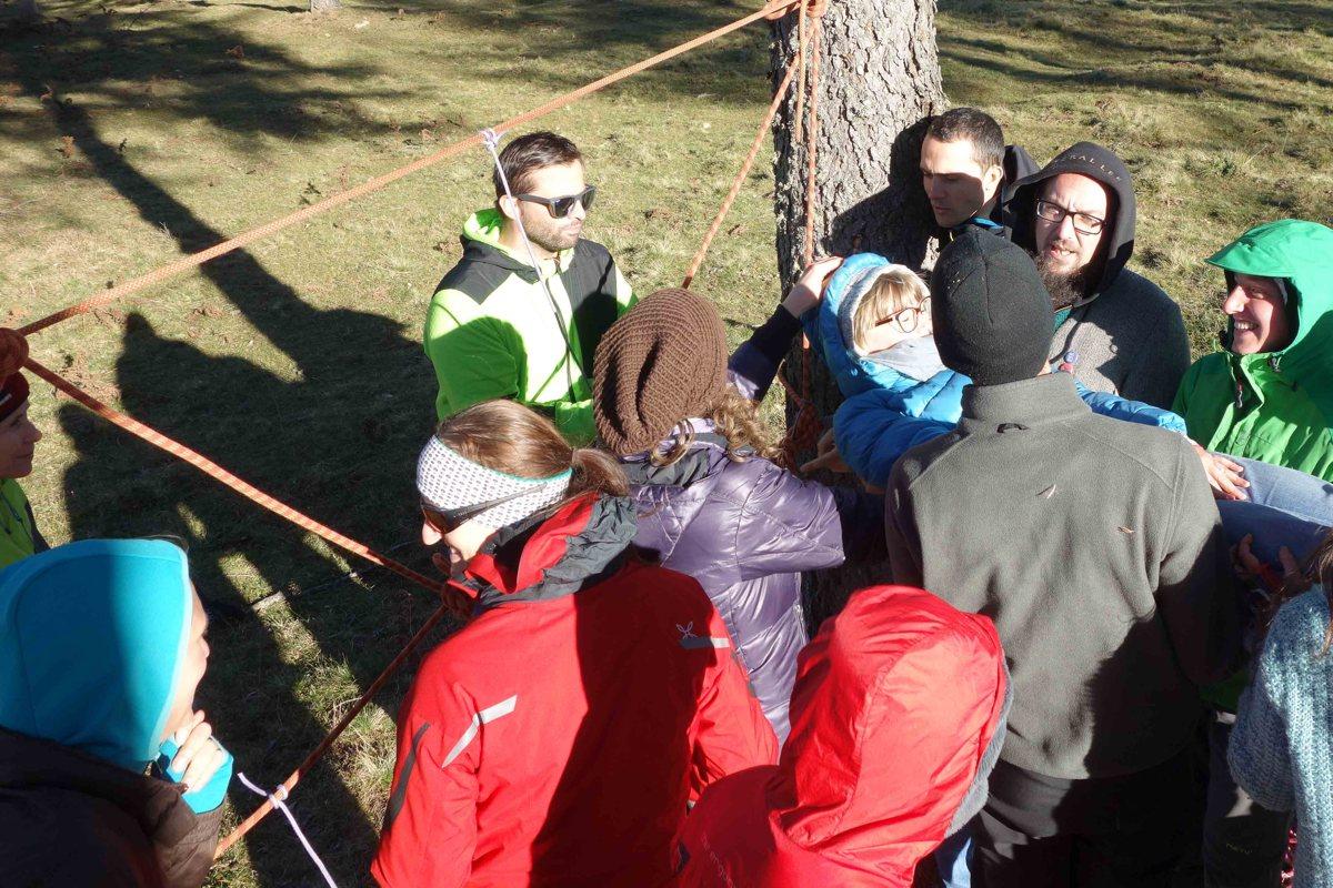 Lehrgang Erlebnispädagigik: Das Spinnennetz
