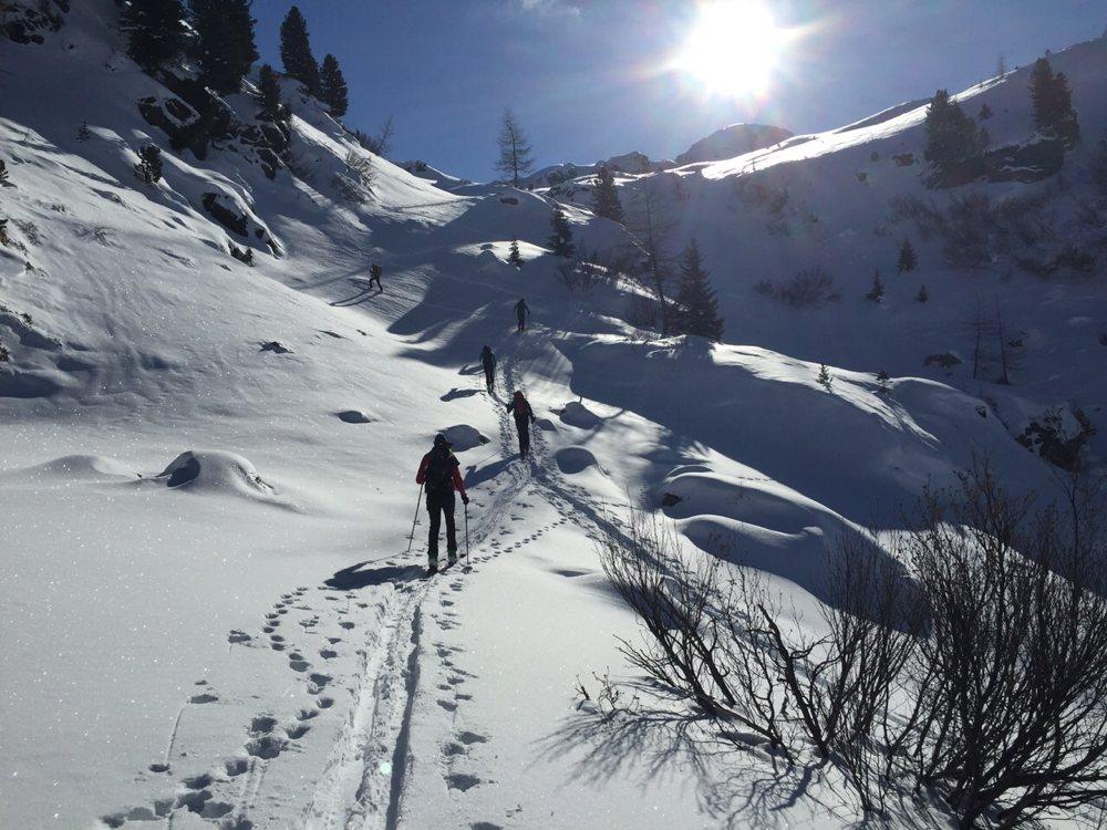 Skitour Richtung Riesler Knollen / Bergerlebnis