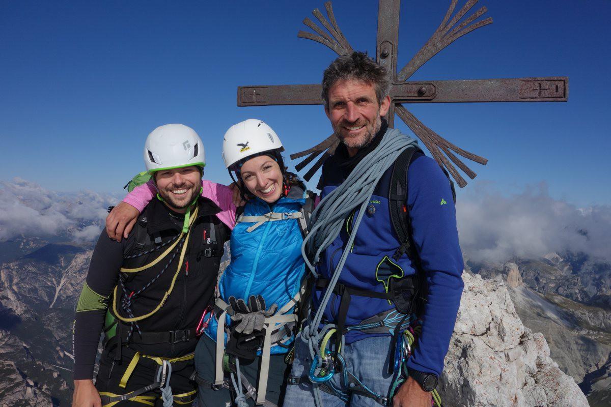 Gipfelfoto Drei Zinnen