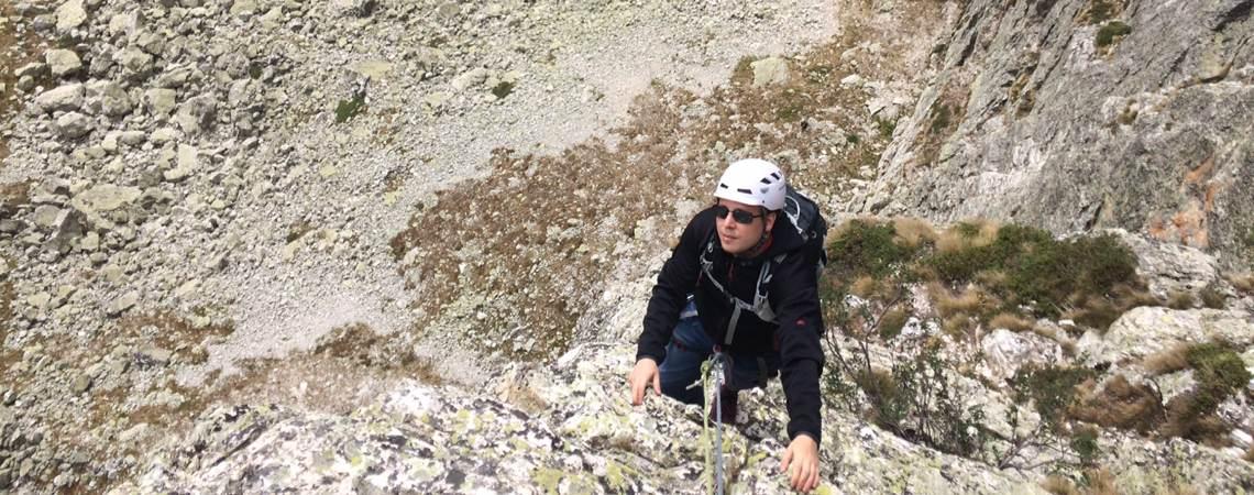 Klettertour Spigolo Maria Grazia / Valle Maira